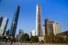 Büroturm in Guangzhou, China Stockbilder