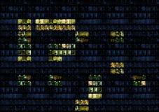 Bürowand-Alphabetsymbole stockfoto