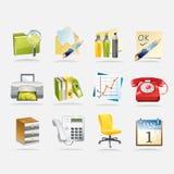 Bürozubehör-Vektor-Illustration stockfotografie