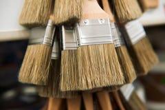 Bürste für Farbenabschluß oben Stockfotografie
