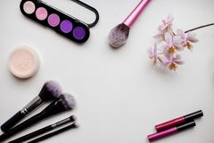Bürste für Make-up lizenzfreie stockbilder