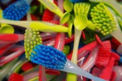 Bürste für Reinigungsabschluß oben Stockfotos