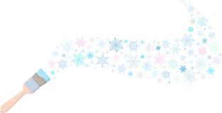 Bürste zeichnet Schneeflocken vektor abbildung