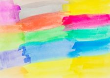 Bürsten-Anschläge und Beschaffenheit Mehrfarben-Mulitshades stockfoto