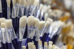 Bürsten für das Malen mit Aquarell, Öl, Gouache, acrylsauer Lizenzfreie Stockfotografie