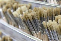 Bürsten für das Malen mit Aquarell, Öl, Gouache, acrylsauer Lizenzfreie Stockbilder