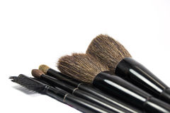 Bürsten für die Anwendung von Kosmetik stockfotografie