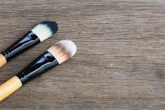 Bürsten für Make-up Lizenzfreies Stockbild