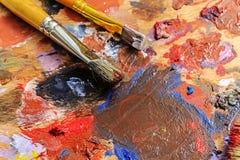 Bürsten- und Farbenmaler Stockbild