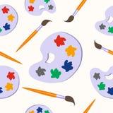Bürsten und nahtloser Hintergrund der Palette Design, zeichnend Stockbild