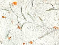 Büttenpapier des orange Blumenblattes Lizenzfreies Stockbild