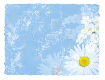 Büttenpapier mit Blumen Stockbild