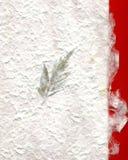 Büttenpapier und Blatt Stockbild