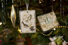 Büttenpapier-Weihnachtsverzierung Lizenzfreie Stockbilder
