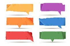 bąbel barwiąca papierowa mowa royalty ilustracja