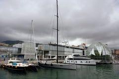 Bąbel biosfera Renzo Piano genuą Włochy obrazy royalty free