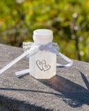 Bąbel butelka dla wesela obrazy royalty free