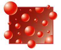 bąbel czerwień Obrazy Stock