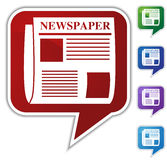 bąbel mowa gazetowa ustalona royalty ilustracja