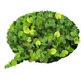 Bąbel mowa robić od zielonych liści Fotografia Stock