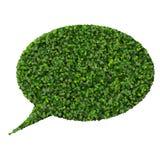 Bąbel mowa robić od zielonych liści Fotografia Royalty Free