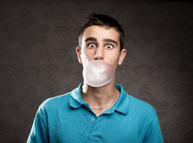 Bąbel z guma do żucia Fotografia Stock
