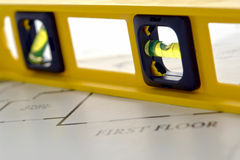 bąbla budowy podłoga domu pozioma nowi plany Obrazy Stock