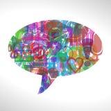 bąbla graficznej osoby mowy target14_0_ wektor Obrazy Stock