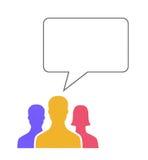bąbla komunikacyjna pojęcia mowa Zdjęcie Stock