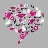 bąbla miłość robić symboli/lów rozmowa Fotografia Stock