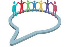 bąbla ręk chwyta środków ludzie socjalny mowy Obraz Stock