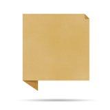 Bąbla rozmowy origami przetwarzający papier. Obraz Stock