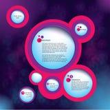 bąbla szablonu sieć Zdjęcie Royalty Free