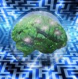 bąbla szkła maszyny umysł ilustracji