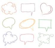 bąble doodle nakreślenie mowę Fotografia Royalty Free