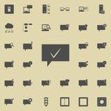 bąble komunikuje z oceny ok ikoną Szczegółowy set minimalistic ikony Premii ilości graficznego projekta znak Jeden ilustracja wektor