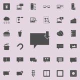 bąble komunikuje z puszek strzała ikoną Szczegółowy set minimalistic ikony Premii ilości graficznego projekta znak Jeden ilustracja wektor