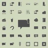 bąble komunikuje z strzała odgórna ikona Szczegółowy set minimalistic ikony Premii ilości graficznego projekta znak O ilustracja wektor