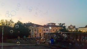 Bąble na powietrzu przed wieczór dziejowy miasto Florence obrazy royalty free