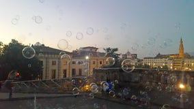 Bąble na powietrzu przed wieczór dziejowy miasto Florence fotografia royalty free