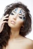 bąble tworzą dziewczyny makeup wodę obraz royalty free