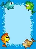 bąbli śliczna ryba rama Zdjęcia Royalty Free
