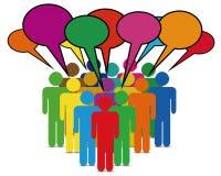 bąbli biznesowi kolorowi sieci ludzie rozmowy royalty ilustracja