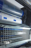 Bęben na odsadzki roto drukowej maszynie zdjęcia stock