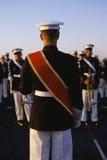 Bębenu major wiodący militarny zespół fotografia stock