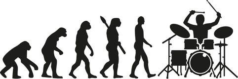 Bębenu zestawu gracza ewolucja ilustracja wektor