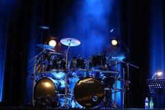 Bębeny Billy Cobham żyją na scenie w LODOWY Krakowskim, zdjęcie stock