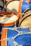 Bębeny umieszczający na podłoga Zdjęcie Stock