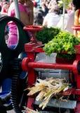 Bębni prasowego używać sok trzcina cukrowa w India Obraz Royalty Free