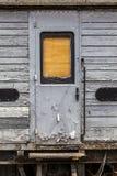 Będący ubranym zaniechany kolejowy kareciany drzwi Zdjęcia Royalty Free